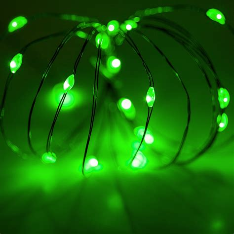 Battery Operated Lights - 18 Green Battery Operated LED