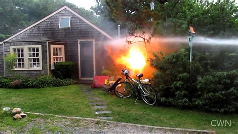 Propane tank fire and explosion Provincetown, MA 8/15/14