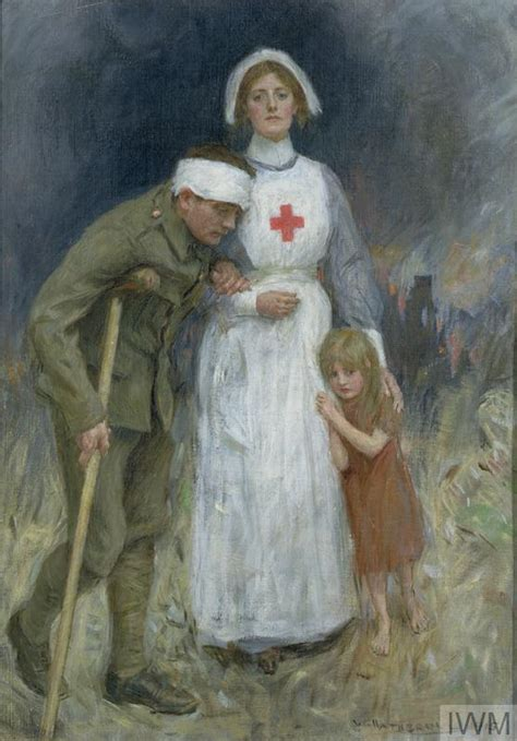 Nurse, Wounded Soldier and Child (Art