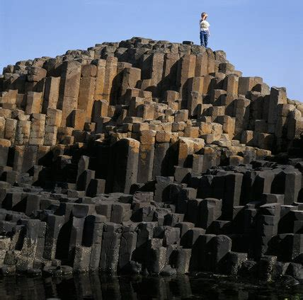View of the unusual rock formation at Giant's Causeway, Co