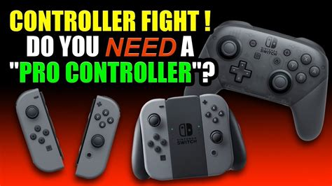 Nintendo Switch Controller Fight - Do You NEED the Pro