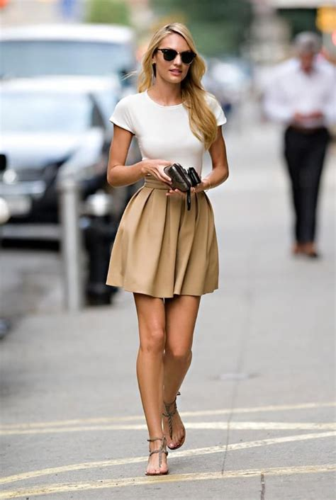 Love a circle skirt and white top