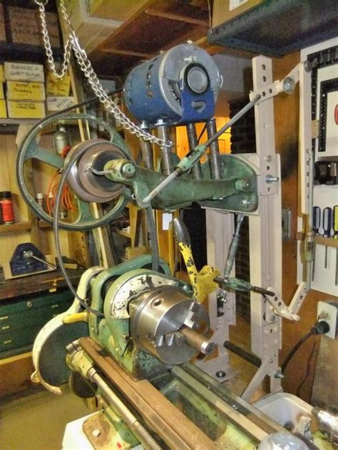 Convert electric motor to power old 9 inch lathe