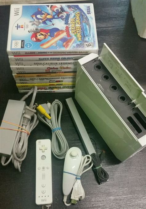 Nintendo Wii White Console with Games Tested Gamecube