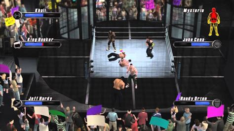 WWE Smackdown Vs Raw 2008 Elimination Tag Gameplay By