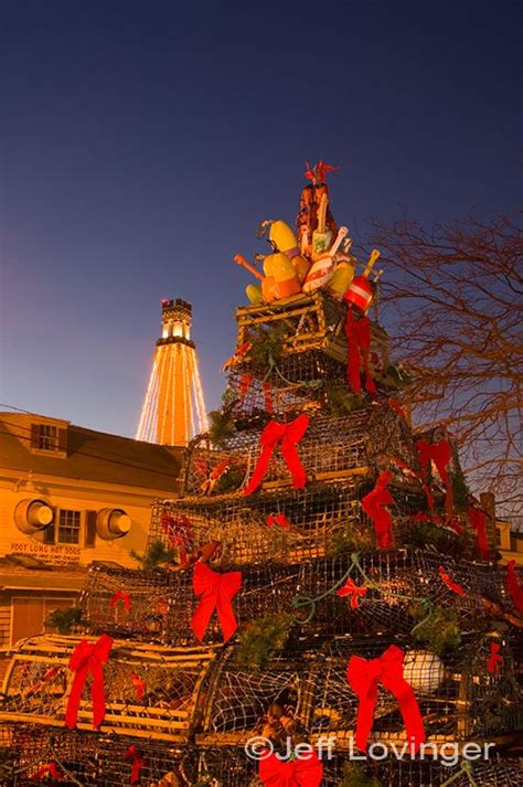 Lobster Pot Christmas Tree in Provincetown on Cape Cod