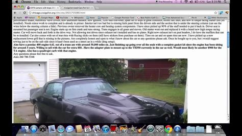 Chicago Craigslist Illinois Used Cars - Online Help for