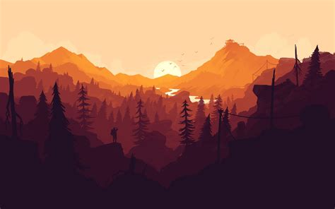 Firewatch, Mountains, Forest, Video games Wallpapers HD