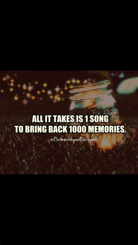 All It takes is 1 song to bring back 1000 Memories!