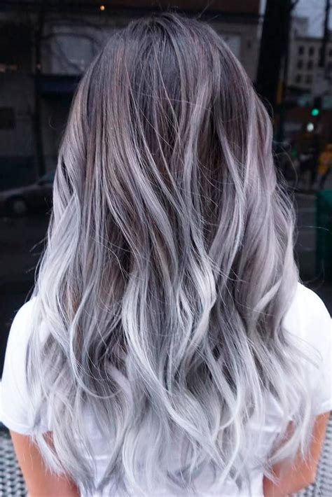 33 Try Grey Ombre Hair This Season | Colored hair tips