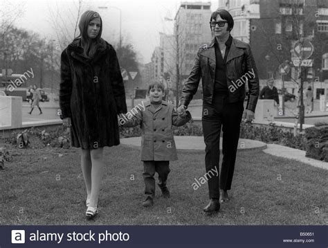 Roy Orbison with his wife Barbara Anne Marie April 1970
