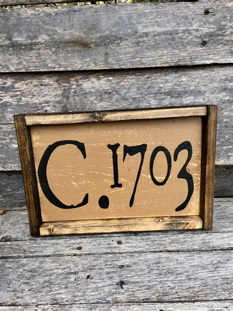 Circa Sign Established House Sign Early American Colonial